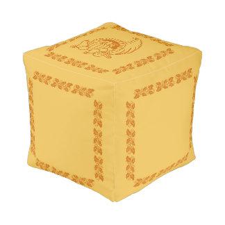 Ottoman (cube) - Horn of Plenty Cube Pouf