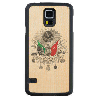 Ottoman Empire Grayscale Coat Of Arms Carved Maple Galaxy S5 Case