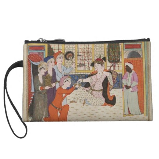 Ottoman harem bag wristlet purse