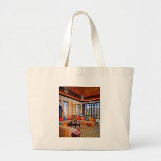 ottoman living room tote bags