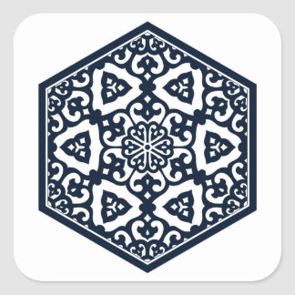 Ottoman pattern 6 sticker square
