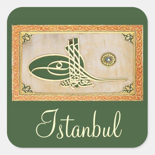 Ottoman sultan tughra Sticker