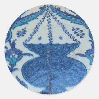 Ottoman Tile old Turkish lamp design Classic Round Sticker