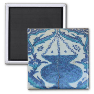 Ottoman Tile old Turkish lamp design Square Magnet