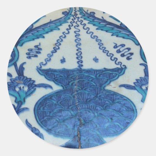 Ottoman Tile old Turkish lamp design Round Sticker