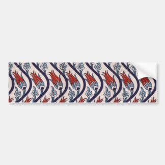 Ottomans Tulip Pattern / Tile Art Bumper Sticker