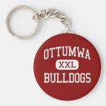 Ottumwa - Bulldogs - High School - Ottumwa Iowa Basic Round Button Key Ring