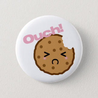 """Ouch!"" says the Kawaii Cookie 6 Cm Round Badge"