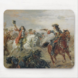 Oudenaarde - A Cavalry Skirmish (oil on panel) Mouse Pad