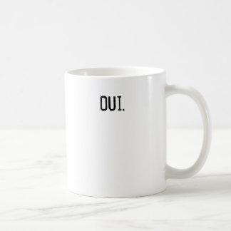Oui. Coffee Classic White Coffee Mug
