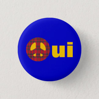 Oui No Trident Scottish Independence Badge