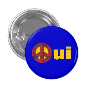 Oui No Trident Scottish Independence Badge