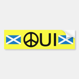 Oui No Trident Scottish Independence Sticker