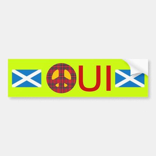 Oui No Trident Scottish Independence Sticker Bumper Stickers