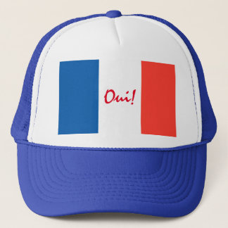 Oui Yes French Flag Customizable Trucker Hat