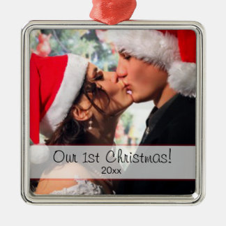 Our 1st Christmas - add your photo Christmas Ornament