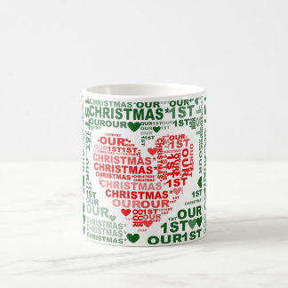 Our 1st Christmas Red Heart Coffee Tea Mug. Coffee Mug