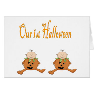 Our 1st HALLOWEEN (TWINS) Card