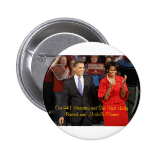 Our 44th President and Our First Lady 6 Cm Round Badge