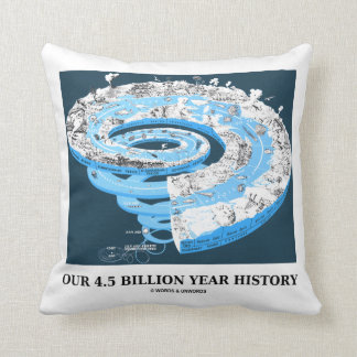 Our 4.5 Billion Year History (Geological Time) Cushion
