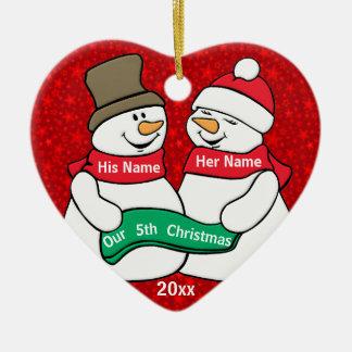 Our 5th Christmas Christmas Ornament