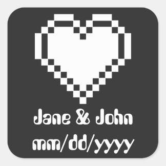 Our 8-Bit Hearts in Black Sticker