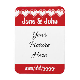 Our 8-Bit Hearts in Cherry Save-the-Date Magnet
