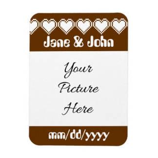 Our 8-Bit Hearts in Chocolate Save-the-Date Magnet