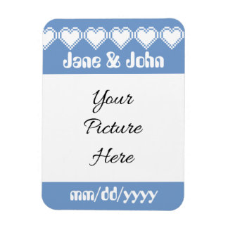 Our 8-Bit Hearts in Periwinkle Reminder Magnet