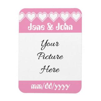 Our 8-Bit Hearts in Petal Pink Reminder Magnet