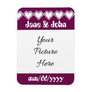 Our 8-Bit Hearts in Wine Save-the-Date Magnet
