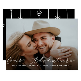 Our Adventure | Wedding Save the Date Photo Custom Card