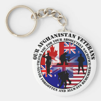 Our Afghanistan of veteran 5 nation Key Ring