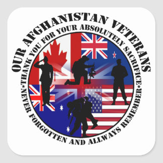 Our Afghanistan of veteran 5 nation Stickers