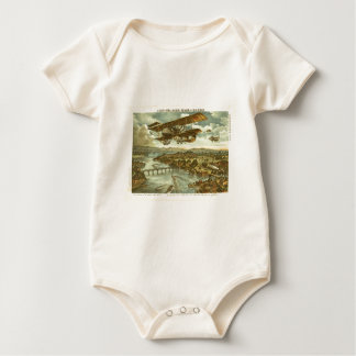 Our Army Attacks from Sky Water and Shore Romper