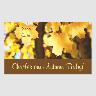 Our Autumn Baby! stickers So Cute! Yellow Leaves