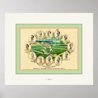 Our Baseball Heroes ~ Vintage Baseball ~ 1895 Poster