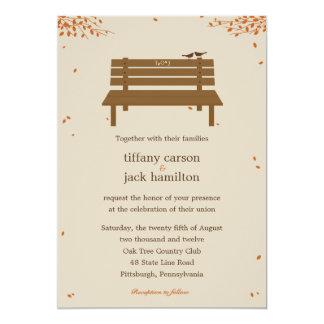 Our Bench Fall Wedding Invitation Custom Invites