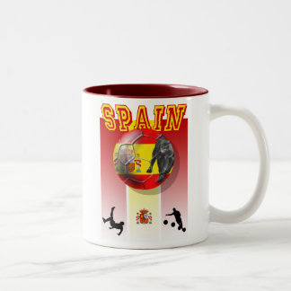 Our Best selling Spanish Soccer futbol artwork Two-Tone Mug