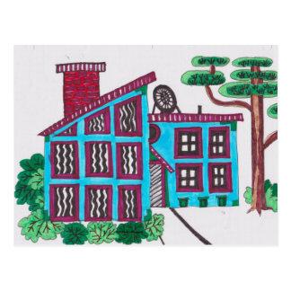 OUR BLUE HOUSE POSTCARD