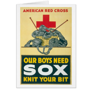 Our boys need sox - knit your bit greeting card