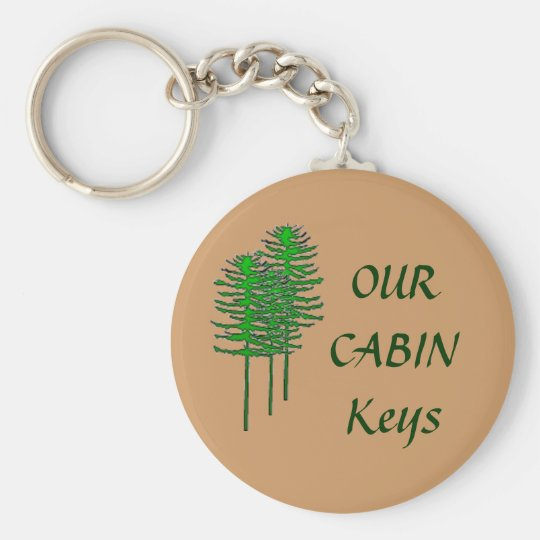 Our Cabin Keys Basic Round Button Key Ring