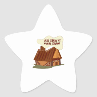 Our Cabin Star Stickers