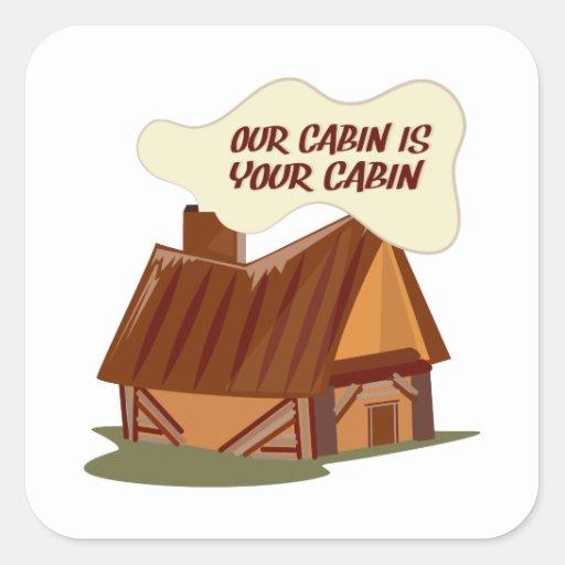 Our Cabin Square Stickers