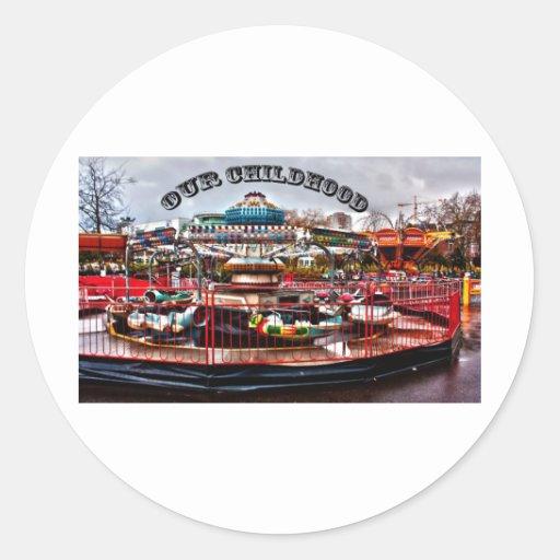 Our Childhood Round Sticker