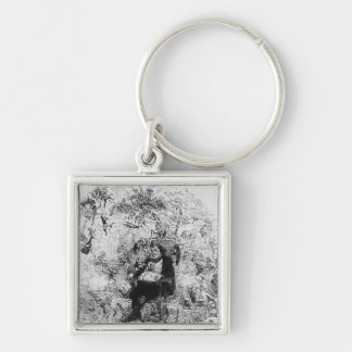 Our Christmas Dream Silver-Colored Square Key Ring