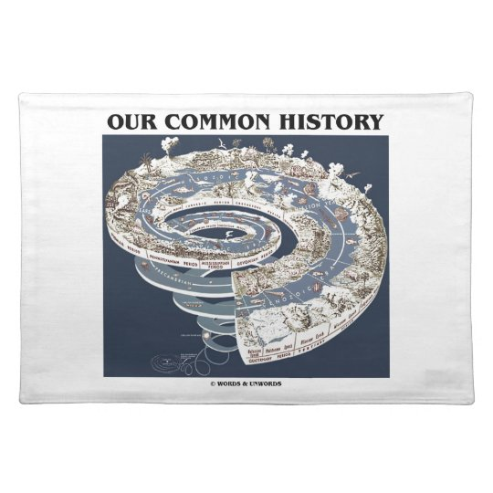 Our Common History (Earth History Timeline Spiral) Placemat