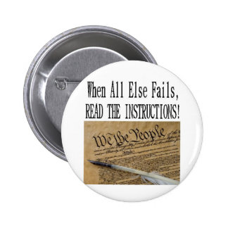 Our Constitution these are the instructions 6 Cm Round Badge
