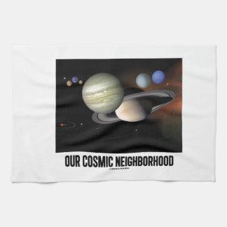 Our Cosmic Neighborhood (Solar System) Tea Towel