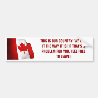 OUR COUNTRY BUMPER STICKER